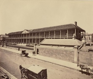 Sydney Infirmary, 1870 / [attributed to Charles Pickering] the image is from the collections of the State Library of NSW SPF / 176