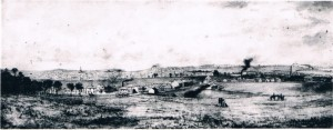 Chippendale c1855 from Sydney University – Shepherd's Darling-Nursery Estate and house is shown far right