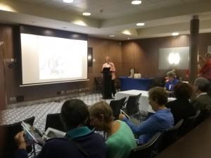 Judy Russell - preparing to speak