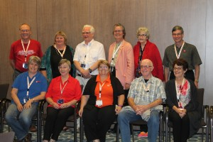Our #10th Unlock The Past Cruise speakers: (Standing, l-r) Eric Kopittke, Shauna Hicks, Paul Blake, Judy Russell, Jan Gow, Louis Kessler. (Sitting) Rosemary Kopittke, Diane Foster, Helen Smith, Geoff Doherty, Marg Doherty